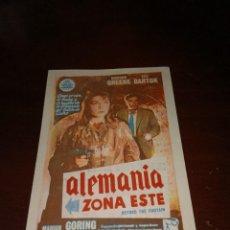 Cine: PROGRAMA DE MANO ORIG - ALEMANIA ZONA ESTE - CON CINE DE TARRAGONA IMPRESO AL DORSO. Lote 289374668