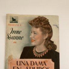 Cine: UNA DAMA EN APUROS - DOBLE - IRENE DUNNE - CON PUBLICIDAD. Lote 289414228
