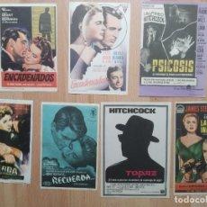 Cine: N1º-LOTE 228- PROGRAMAS DE CINE-- LOTE ALFRED HITCHCOCK. Lote 289455133