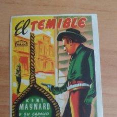 Cine: Z-- PROGRAMAS DE CINE -- EL TEMIBLE. Lote 289456268