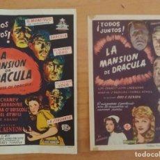 Cine: 122-PROGRAMA DE CINE---LA MANSION DE DRACULA. Lote 26986931