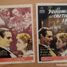 Cine: N1º-LOTE 232-- PROGRAMAS DE CINE-- EL PRISIONERO DEL CASTILLO DE IF. Lote 289457793