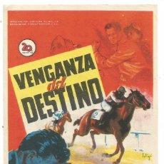 Cine: SENCILLO VENGANZA DEL DESTINO 1952 EDUCACION Y DESCANSO EMPRESA DE CINE SANTA COLOMA DE QUERALT. Lote 289568323