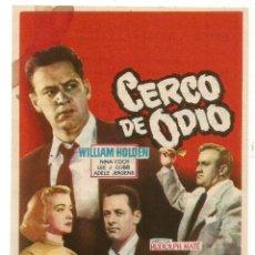 Cine: SENCILLO CERCO DE ODIO 1957 EDUCACION Y DESCANSO EMPRESA DE CINE SANTA COLOMA DE QUERALT. Lote 289598253