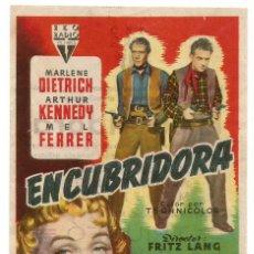 Cine: SENCILLO ENCUBRIDORA 1953 EDUCACION Y DESCANSO CINE SANTA COLOMA DE QUERALT FESTIVIDAD DE SAN PEDRO. Lote 289608118