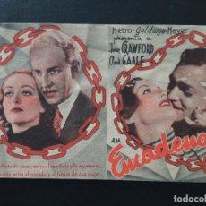 Cine: ENCADENADA, JOAN CRAWFORD, CLARK GABLE, TEATRO PRINCIPAL, 1936. Lote 289628068