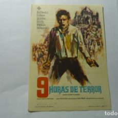 Cine: PROGRAMA 9 HORAS DE TERROR -PUBLICIDAD. Lote 289638648