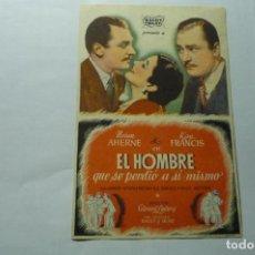 Cine: PROGRAMA EL HOMBRE QUE SE PERDIO A SI MISMO -KAY FRANCIS. Lote 289638883