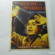 Cine: PROGRAMA NOCHE DE PESADILLA- EDWARD G.ROBINON PUBLICIDAD. Lote 289638953