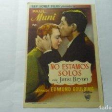 Cine: PROGRAMA NO ESTAMOS SOLOS.-PAUL MUNI. Lote 289639003