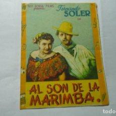 Cine: PROGRAMA DOBLE AL SON DE LA MARIMBA.-FERNANDO SOLER. Lote 289639483