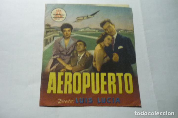 PROGRAMA DOBLE AEROPUERTO .-F.FERNAN GOMEZ PUBLICIDAD (Cine - Folletos de Mano - Clásico Español)