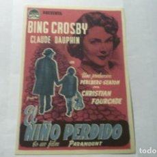 Cine: PROGRAMA EL NIÑO PERDIDO.-BING CROSBY. Lote 289645753