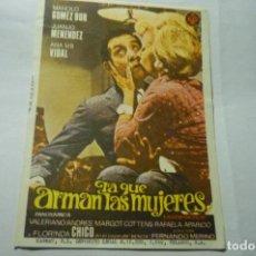 Cine: PROGRAMA LA QUE ARMAN LAS MUJERES.-MANOLO GOMEZ BUR. Lote 289646193