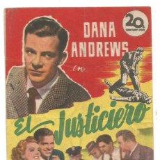 Cine: SENCILLO EL JUSTICIERO 1949 CINE CULTURAL RECREATIVO DE E. D. STA COLOMA DE QUERALT. Lote 289667913