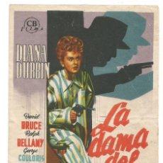 Cine: SENCILLO LA DAMA DEL TREN 1947 CINE CULTURAL RECREATIVO DE E. D. STA COLOMA DE QUERALT. Lote 289673228