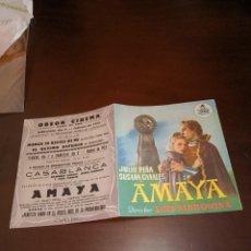 Cine: PROGRAMA DE MANO ORIG DOBLE - AMAYA - CON CINE DE CANET DE MAR IMPRESO AL DORSO. Lote 289684633