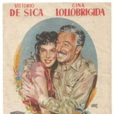 Cine: SENCILLO PAN AMOR Y FANTASIA 1956 EMPRESA CINE E Y D SANTA COLOMA DE QUERALT ILUSTRADO JANO. Lote 289713523