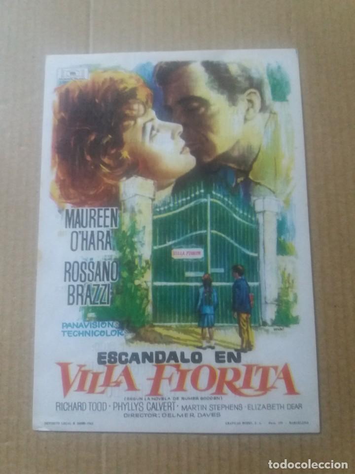ESCÁNDALO EN VILLA FLORITA CON PUBLICIDAD TEATRO REGIO YECLA (Cine - Folletos de Mano - Comedia)