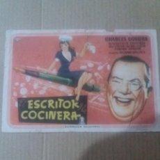 Cine: EL ESCRITOR Y LA COCINERA CON PUBLICIDAD SALON NOVEDADES. Lote 289735288