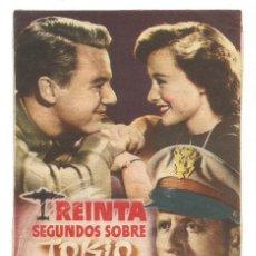 Cine: SENCILLO TREINTA SEGUNDOS SOBRE TOKIO 1947 CINE CULTURAL RECREATIVO DE E. D. STA COLOMA DE QUERALT. Lote 289801978