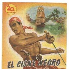 Cine: SENCILLO EL CISNE NEGRO TYRONE POWER 1949 CINE CULTURAL RECREATIVO DE E. D. STA COLOMA DE QUERALT. Lote 289804043