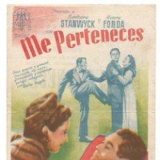 Cine: SENCILLO ME PERTENECES 1947 CINE CULTURAL RECREATIVO E. D. STA COLOMA DE QUERALT. Lote 289828318