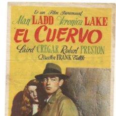 Cine: SENCILLO EL CUERVO 1948 FERIA DE ESTA VILLA CINE CULTURAL RECREATIVO E. D. STA COLOMA DE QUERALT. Lote 289828718