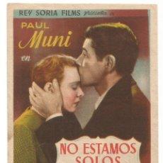 Cine: SENCILLO NO ESTAMOS SOLOS 1948 CINE CULTURAL RECREATIVO DE E. D. STA COLOMA DE QUERALT. Lote 289829098