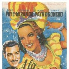 Cine: SENCILLO A LA HABANA ME VOY 1950 CINE CULTURAL RECREATIVO DE E. D. STA COLOMA DE QUERALT. Lote 289829688