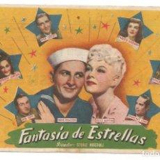 Cine: SENCILLO FANTASIA DE ESTRELLAS 1948 CINE CULTURAL RECREATIVO DE E. D. STA COLOMA DE QUERALT. Lote 289830343