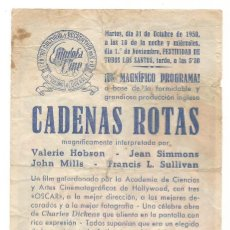 Cine: MR BELVEDERE ESTUDIANTE 1948 FESTIVIDAD TODOS LOS SANTOS CINE C. R. DE E. D. STA COLOMA DE QUERALT. Lote 289830863