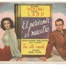 Cine: SENCILLO EL PORVENIR ES NUESTRO 1948 CINE CULTURAL RECREATIVO DE E. D. STA COLOMA DE QUERALT. Lote 289838833