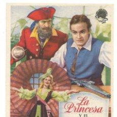 Cine: SENCILLO LA PRINCESA Y EL PIRATA 1949 CINE CULTURAL RECREATIVO DE E. D. STA COLOMA DE QUERALT. Lote 289841668