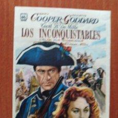 Cine: LOS INCONQUISTABLES. Lote 289854003