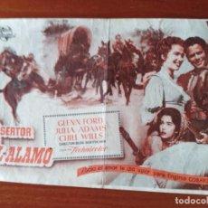 Cine: EL DESERTOR DEL ALAMO (CON PUBLICIDAD). Lote 289854343