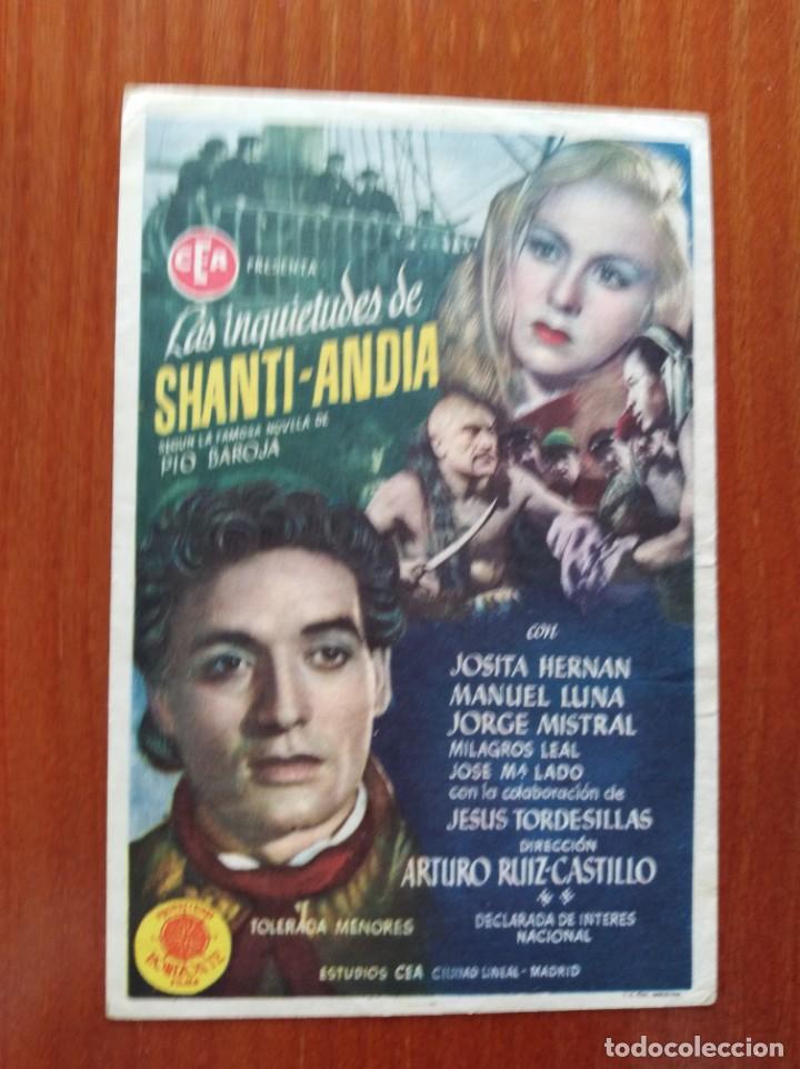 LAS INQUIETUDES DE SHANTI ANDIA (Cine - Folletos de Mano - Clásico Español)
