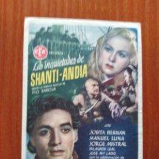 Cine: LAS INQUIETUDES DE SHANTI ANDIA. Lote 289855848