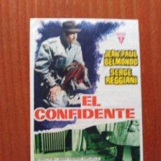 Cine: EL CONFIDENTE (CON PUBLICIDAD). Lote 289857878