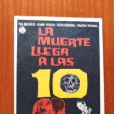 Cine: LA MUERTE LLEGA A LAS 10 (CON PUBLICIDAD). Lote 289858463