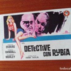 Cine: DETECTIVE CON RUBIA. Lote 289860013