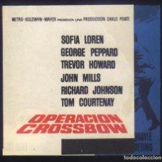 Cine: P-6446- OPERACION CROSSBOW (OPERATION CROSSBOW) (DOBLE) SOPHIA LOREN - GEORGE PEPPARD. Lote 289875793