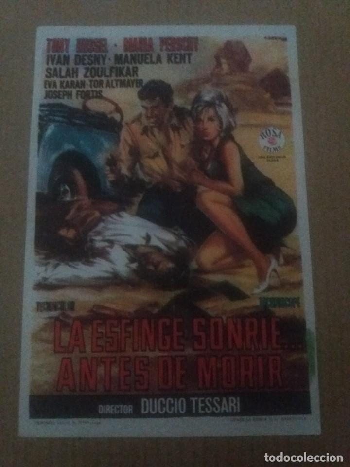 LA ESFINGE SONRIE AMTES DE MORIR CON PUBLICIDAD IMPERIAL CINEMA LA LÍNEA (Cine - Folletos de Mano - Acción)