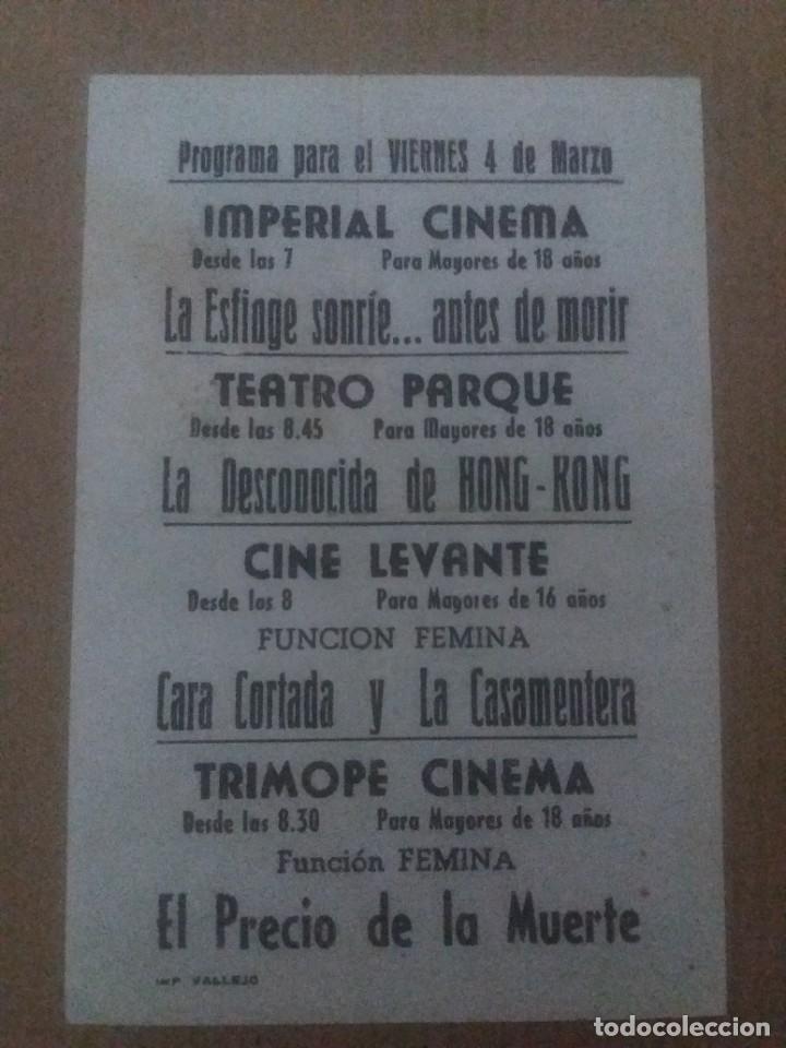 Cine: La esfinge sonrie amtes de morir con Publicidad Imperial Cinema La Línea - Foto 2 - 289892233