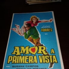 Cine: PROGRAMA DE MANO ORIG - AMOR A PRIMERA VISTA- SIN CINE IMPRESO AL DORSO. Lote 289911798