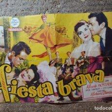 Cine: FOLLETO DE MANO DOBLE DE LA PELICULA FIESTA BRAVA. Lote 290006488