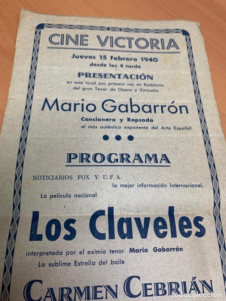 Cine: FOLLETO DE CINE ANTIGUO. LOS CLAVELES. CLÁSICO ESPAÑOL. - Foto 2 - 290010118