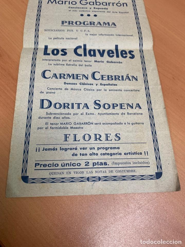 Cine: FOLLETO DE CINE ANTIGUO. LOS CLAVELES. CLÁSICO ESPAÑOL. - Foto 3 - 290010118
