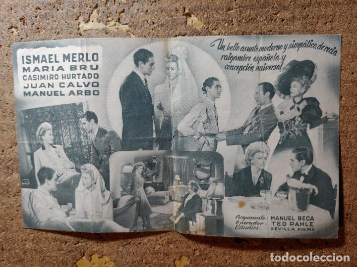 Cine: FOLLETO DE MANO DOBLE DE LA PELICULA IDOLOS - Foto 2 - 290014858