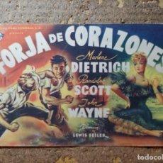 Foglietti di film di film antichi di cinema: FOLLETO DE MANO GIGANTE DE LA PELICULA FORJA DE CORAZONES. Lote 290016138